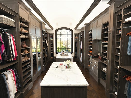 The master closet of Mark and Eva Petrone