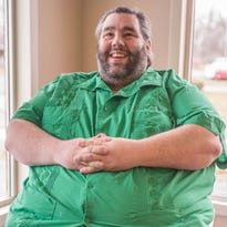 Dan Maurer is now a few months past his surgery for having a 80-pound tumor removed from his scrotum.