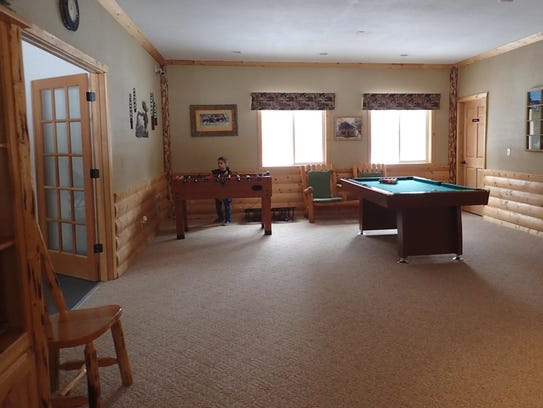 The games, such as the pool table, offer additional