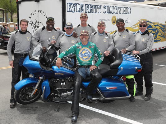 Kyle Petty and riders