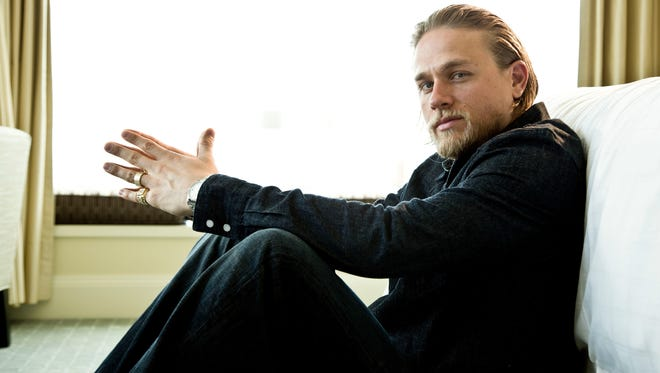 Rising star Charlie Hunnam is photographed at the Four Seasons Hotel on June 30.