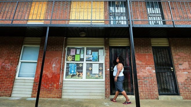 Jessica Johnson-Peterson is president of the renters association at the Warren Apartments.