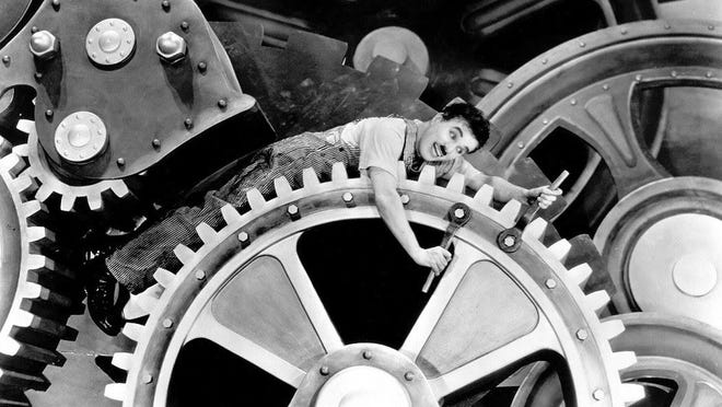 """Charlie Chaplin's """"Modern Times"""" is one of Rocket Cinema's inaugural film screenings."""