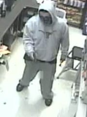 One of the suspects in a Central El Paso convenience store robbery Jan. 30 is shown.