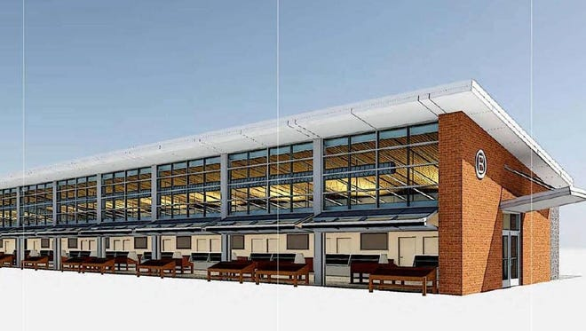 """A rendering of the new enclosed """"winter shed"""" planned for the Rochester Public Market."""