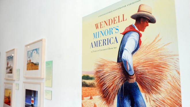 """""""Wendell Minor's America: 25 Years of Children's Book Art"""" is on display at Oddfellows Gallery in Hattiesburg."""