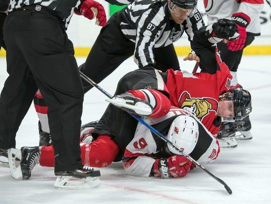 USP NHL: NEW JERSEY DEVILS AT OTTAWA SENATORS S HKN OTT NJD CAN ON