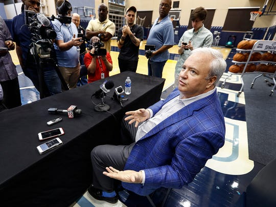 Memphis Grizzlies General Manager Chris Wallace speaks