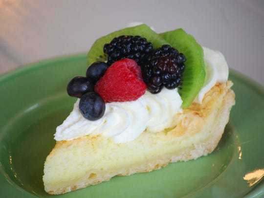The buttermilk fruit pie is one of the regular offerings at Indulge Dessert Lounge.