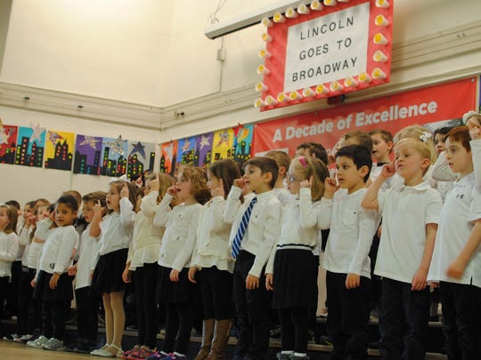 Westfield kindergarteners Sing their hearts out at Broadway-themed Sing-A-Long.
