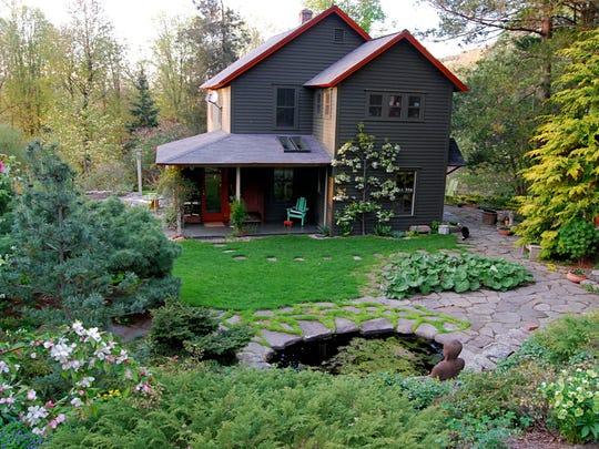 A back view of Margaret Roach's garden in Copake Falls.