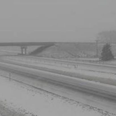 This north-looking image shows Interstate 29 two miles