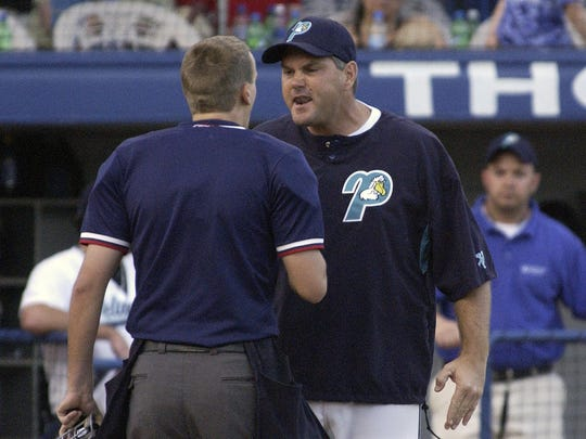 Pensacola's Mac Seibert, who helped assemble the NY Mets' roster as their Midwest scouting director, is shown here during his 2-year tenure (2007-08) as Pensacola Pelicans manager.