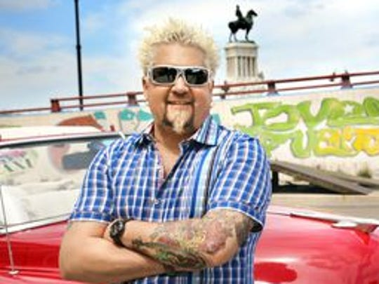"Best known as the host of ""Diners, Drive-Ins and Dives,"" Guy Fieri is known to travel in a red Chevy Camaro SS."