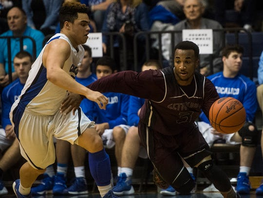 Gettysburg's Marquise Camel takes control of the ball