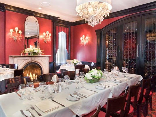 Ho Ho Kus Inn Crystal Room with fireplace