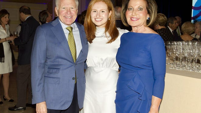 Stephen Weiner, Rachel Janfaza and Roberta Weiner at the Brigham and Women's Hospital annual Palm Beach Dinner at The Breakers on Jan. 9.