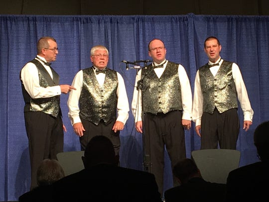 Manitowoc's Lake Effect Quartet competes in the Land