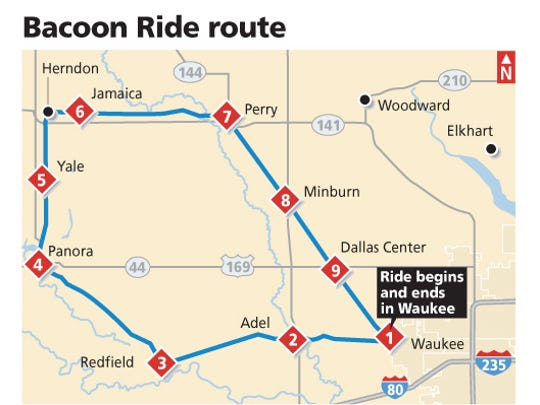 Bacoon Ride route