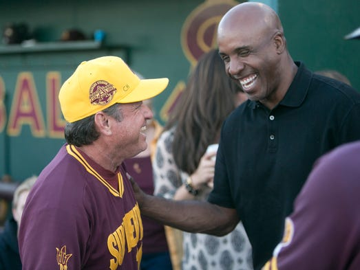 We asked you to vote for the best players to call Packard Stadium home, and we have the results. Barry Bonds (right, with ASU coach Tim Esmay) is on the list. Click through to see the top catchers, infielders, outfielders and pitchers to play for the Sun Devils at Packard.