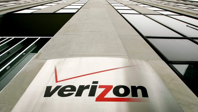 This file photo shows a Verizon building in New York City.