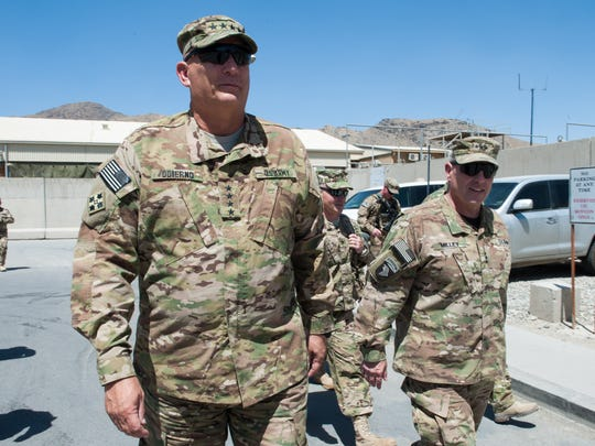 Chief of Staff Gen. Ray Odierno, left, with then-Lt. Gen. Mark Milley in 2013 in Afghanistan.