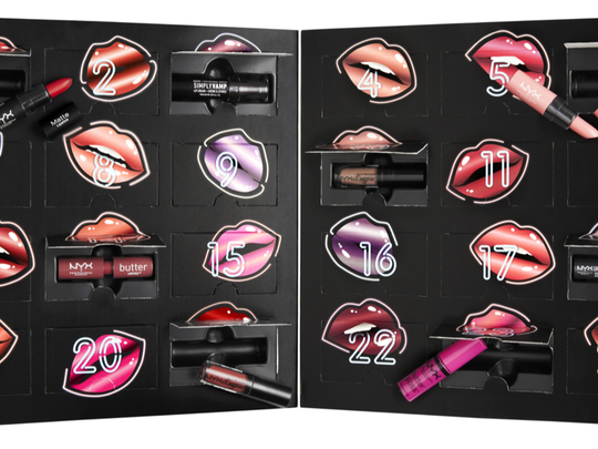 NYX Lippie Countdown Advent Calendar $65, Ulta Beauty at City Place