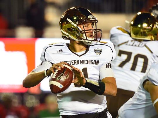 Western Michigan quarterback Zach Terrell threw for