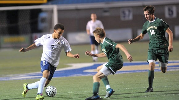 Roberson's Alex Lewis (7) has committed to play college soccer for UNC Greensboro.