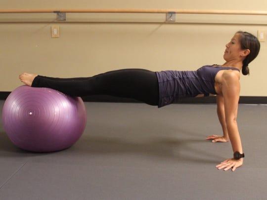 Reverse plank variation