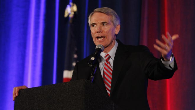 Senator Rob Portman (R-OH) speaks at the Hamilton County Republican Club Lincoln-Reagan Day Dinner held at the Duke Energy Convention Center.