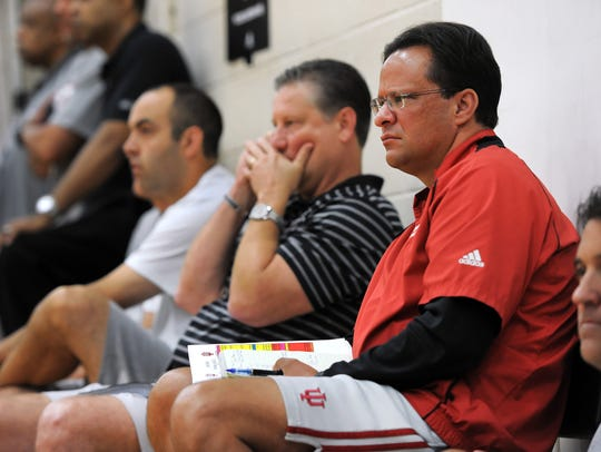 FILE – Tom Crean watches possible player prospects