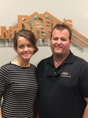 Joanna Carroll, left, is the office manager at Reed's Metals, Inc., in Jackson. Her husband, Sam, serves as the operations manager.