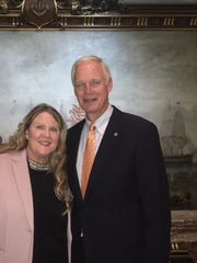 Oconomowoc resident Lauri Badura (left) attended the 2018 State of the Union Address as a guest of U.S. Senator Ron Johnson.
