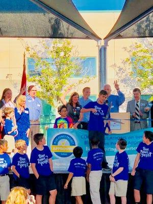 Bonita Springs Charter School celebrates its Blue Zones Project approval on Feb. 26, 2018.