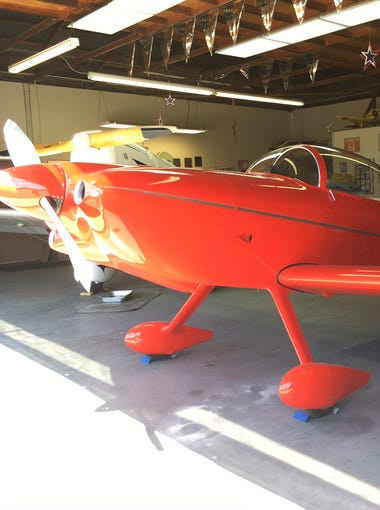 Hangars at the Aviation Museum of Santa Paula open to reveal carefully maintained planes the first Sunday of the month.