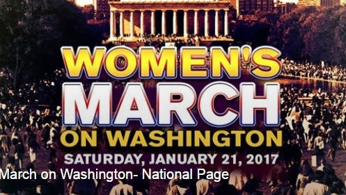 A screenshot of the Facebook page for the Women's March on Washington, which is planned for Jan. 21, 2017, the day after Donald Trump is inaugurated.