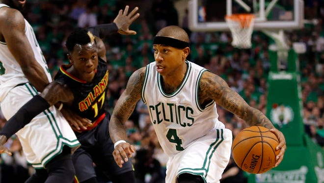 Things got a little heated between Isaiah Thomas and Dennis Schroder during Game 3.