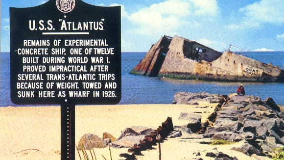 The S.S. Atlantus, which is off the coast of Cape May,