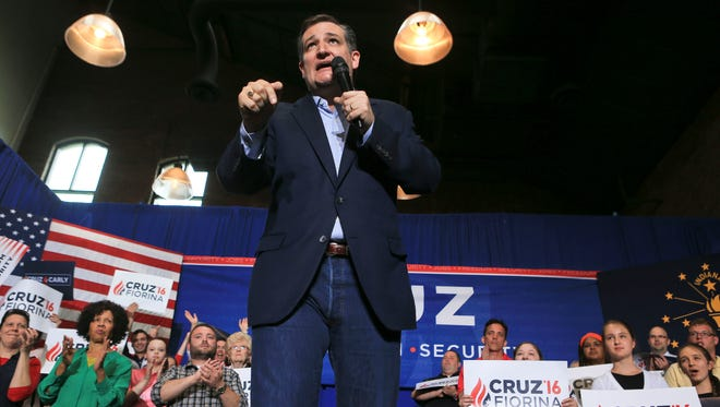 Senator Ted Cruz told potential voters in Jeffersonville Friday that if he's elected, manufacturing jobs would come back to Indiana and he'd repeal the Affordable Care Act and institute a flat tax. Cruz was stumping for votes with four days left before the Indiana primary elections May 3.