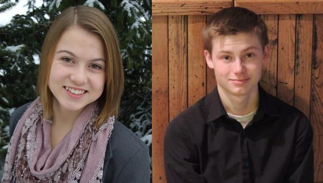 Julia Englebert and Nathan Coulthurst of Southern Door High School.