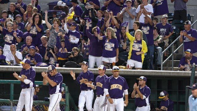State tournament ticket prices will increase from $8 to $10 starting with softball and baseball next month. More than 35,000 fans attended last year's baseball tournament to watch teams like Johnston, shown here.