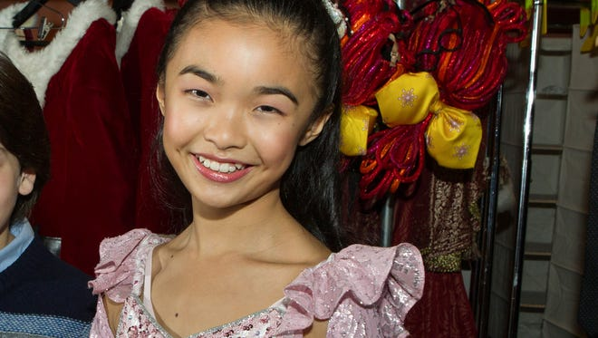 In this 2014, Kayla Mak, 11, from Rye Brook is photographed backstage at Radio City Music Hall on Dec. 9. Mak plays Clara.