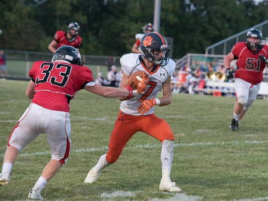 Galion's Tanner Crisman was explosive against Bucyrus