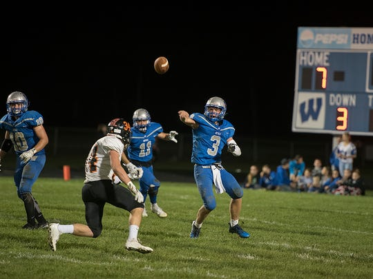 Joel Griffin (3) takes over at quarterback for the Royals.