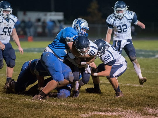 Caleb Rausch (70) will be one of Wynford's defensive leaders.