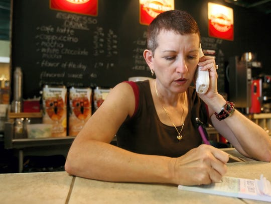 Teri Nelson-Zepeda, owner of the Nuevo Café, takes