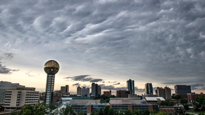 FILE - Clouds pass over downtown Knoxville.(JESSICA TEZAK/NEWS SENTINEL)