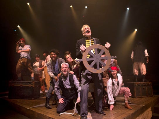 As Captain Stache, John Hall leads a pirate crew in