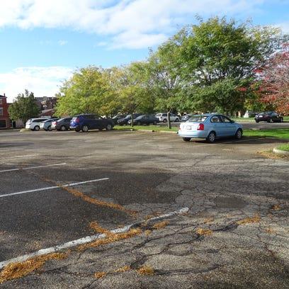 The municipal parking lot off Water Street near the